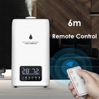 23.8L Large Capacity Ultrasonic Air Humidifier 220V Intelligent Remote Control Water Diffuser Mist Maker Large Fogger