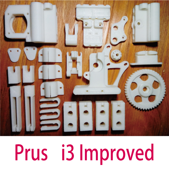 i3 Improved Reprap 3D Printer Printed Plastic Part Premium KIT PLA Part Free Shipping colorful reprap i3 rework 3d printer pla required pla plastic parts set printed parts kit mendel i3 free shipping