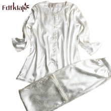 Fdfklak Spring Women Sleep & Lounge Wear Sexy V-Neck Home Clothing