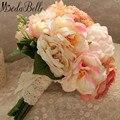 2016 Старинные Невесты Розовый Свадебный Букет Держатель Ручной Шелковый Искусственный Букет Невесты Букет Fleurs Mariage