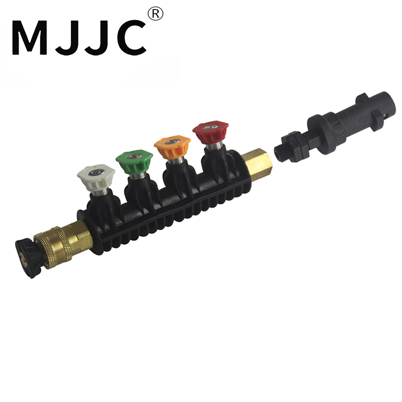 MJJC Brand with High Quality Water Spray Lance Water Wand Nozzle for Karcher K Series Pressure Washer with 5 spray tips