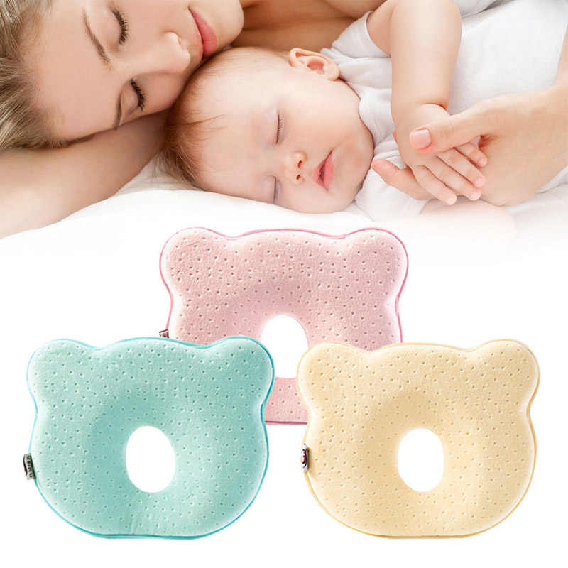 2019 High Quality Soft Infant Newborn Baby Pillow Memory Foam Cushion Sleeping Support Pillows Anti Flat Head with Animal Shape
