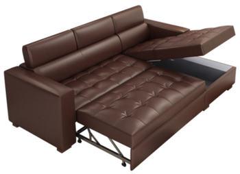 Диван-кровать из натуральной коровьей кожи, мебель для гостиной, секционный угловой диван в современном стиле