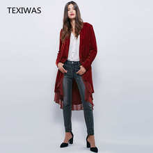 Velvet Women New Jackets Coats Chiffon Ruffles Elegant Long