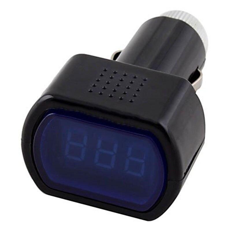 THGS Digital LCD Cigarette Lighter Voltage Panel Meter Monitor Car Volt Voltmeter Black