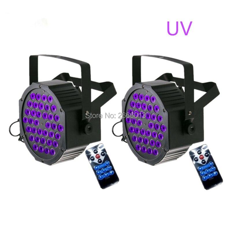 2pcs/lot 36 LEDs UV Stage Par Light Disco DJ Projector Machine Party Wireless Remote Sound DMX Master-slave UV LED Stage Light