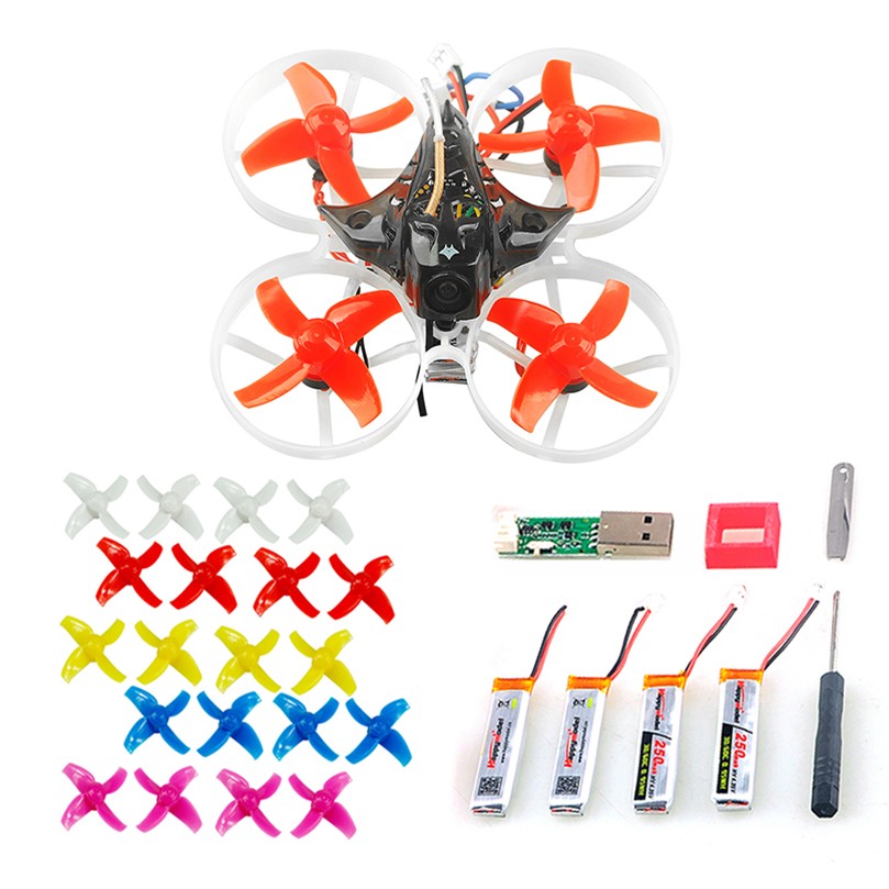 Mini Mobula 7 75mm Crazybee F3 Pro OSD 2S Whoop FPV Racing Drone Quadcopter w/Upgrade BB2 ESC 700TVL BNF With 10Pairs Propellers rcmoy uav115 brushless micro fpv racing quadcopter drone f3 flight controll 800tvl vtx 10a esc tiny whoop blade inductrix