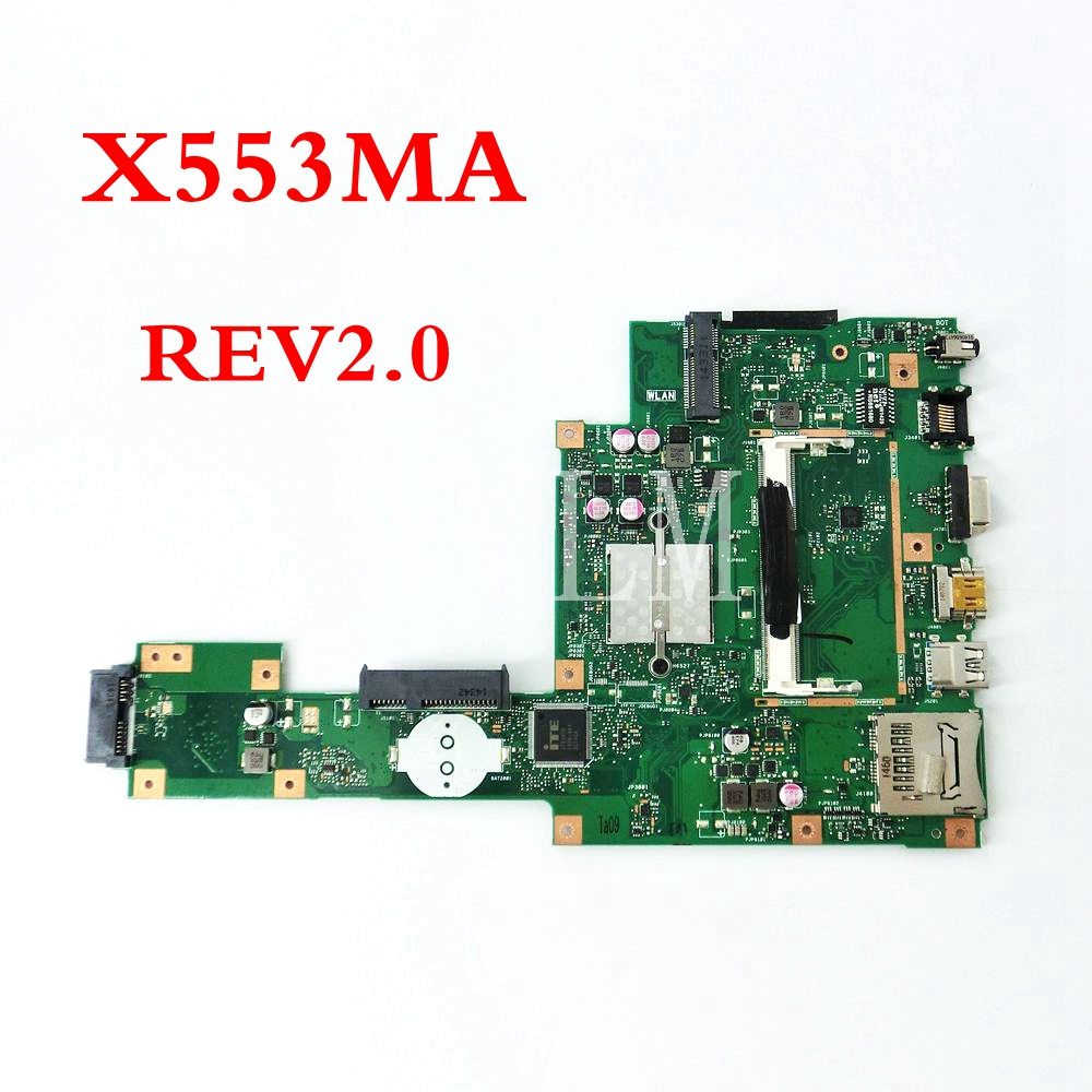 X553MA mainboard REV2.0 For ASUS F503M X503M F553MA F553M X553 X553M X503MA D503 D503M X553MA Laptop motherboard Tested WorkingX553MA mainboard REV2.0 For ASUS F503M X503M F553MA F553M X553 X553M X503MA D503 D503M X553MA Laptop motherboard Tested Working