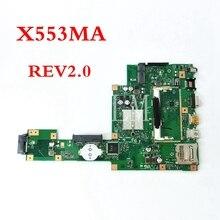 X553MA płyty głównej płyta główna REV2.0 dla ASUS F503M X503M F553MA F553M X553 X553M X503MA D503 D503M X553MA laptopa płyty głównej płyta główna w testowany robocza