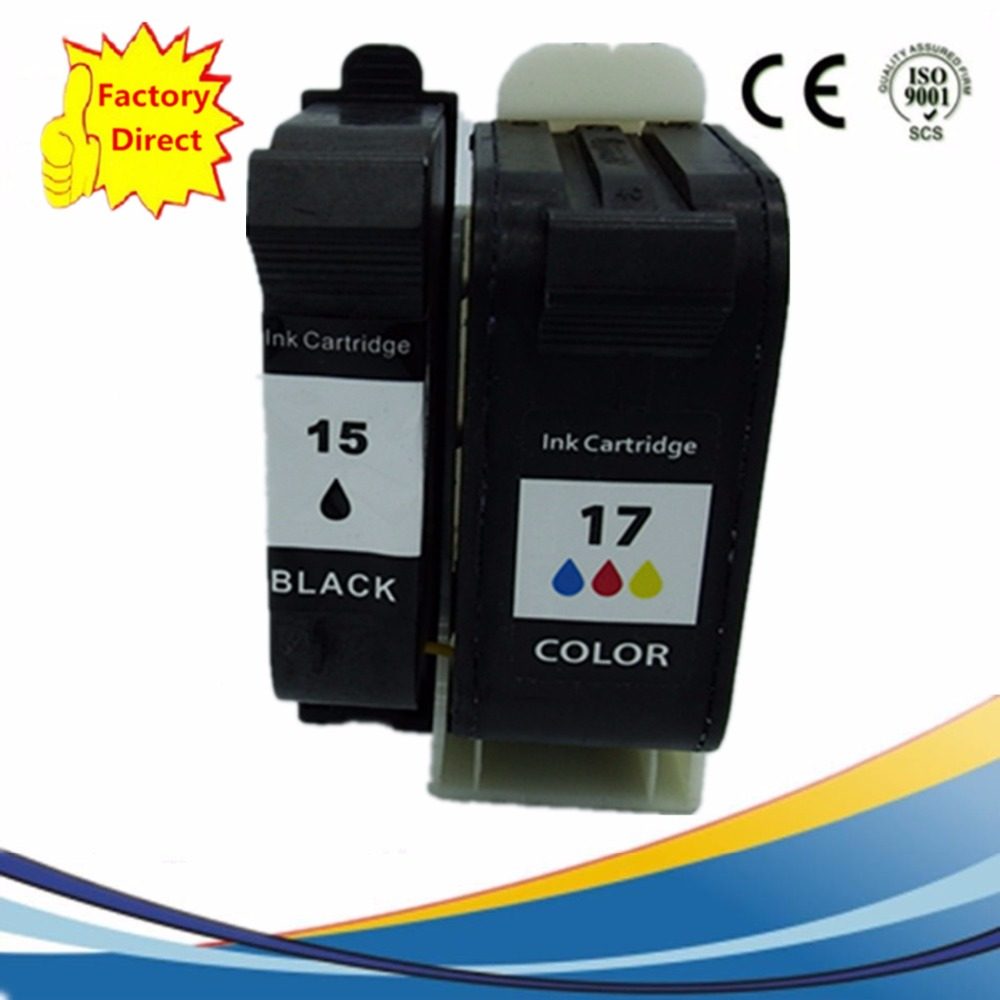 Ink Cartridges Remanufactured For HP15 XL 17 Deskjet 816c 825c 840c 841c 842c 843c 845c 825Cvr 845Cvr Inkjet Printer in Ink Cartridges from Computer Office
