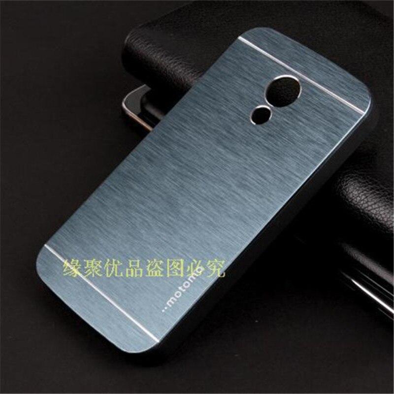 Motomo Luxury Metal Brush Hard Case for Motorola Moto G2 G+1 (2nd gen) XT1068 XT1069 Aluminum Back Cover Capa Celular