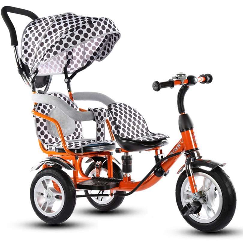 Child Tricycle Baby Bike Double Boy And Girl Stroller Twin