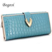 New Hot Ladies Leather Wallet Fashion Trend In The Long Wallet Women's Wallet Multi-function Buckle Wallet Hand Purse Female