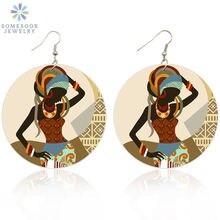 Somesoor Ретро тюрбан в африканском стиле женские деревянные