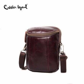 цена на Cobbler Legend Men Vintage Genuine Leather Shoulder Bag Retro Men Crossbody Bag Fashion Messenger Bags Brand Designers Handbags