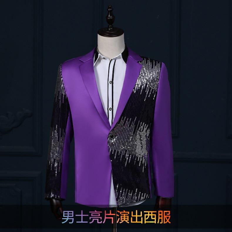 Hombres brillantes trajes de teatro noche smoking traje chaqueta ...