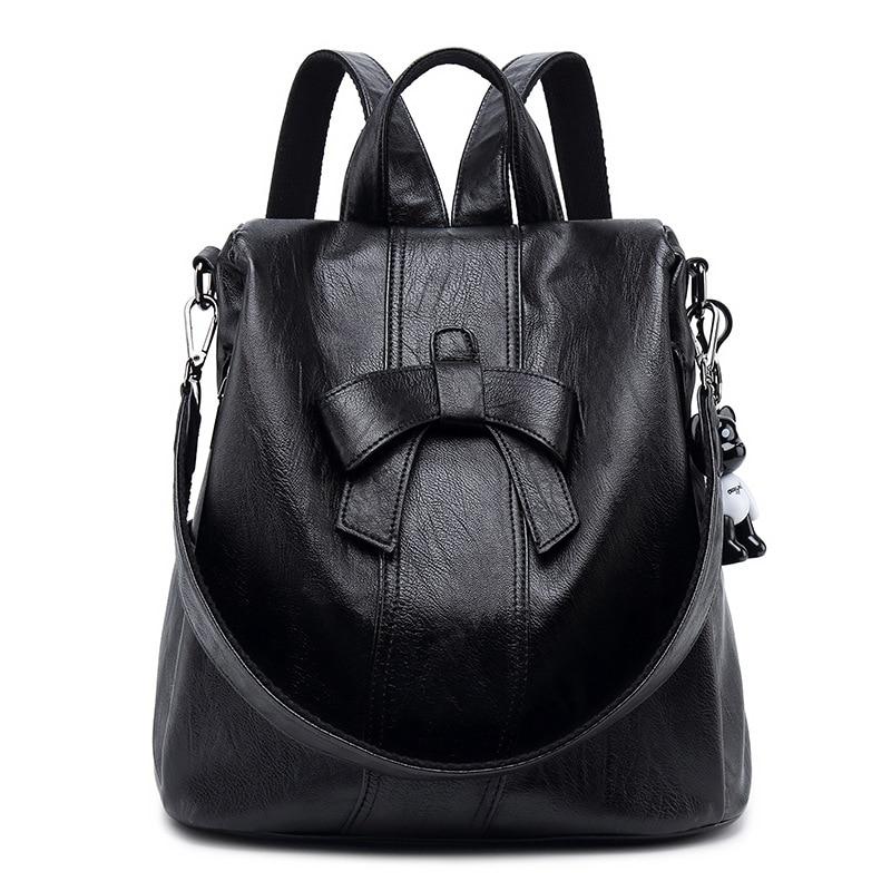 Cowhide Backpack Rucksack Genuine Leather Vintage Ladies Travel Daypack School Bags For Teenager Girls Mochila Bolsas New C797