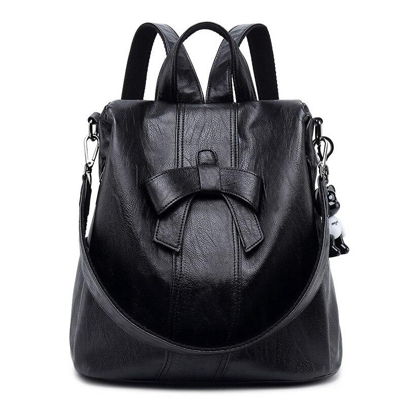 Mochila de couro genuíno das senhoras do vintage viagem daypack sacos escolares para adolescentes meninas bolsas novo c797