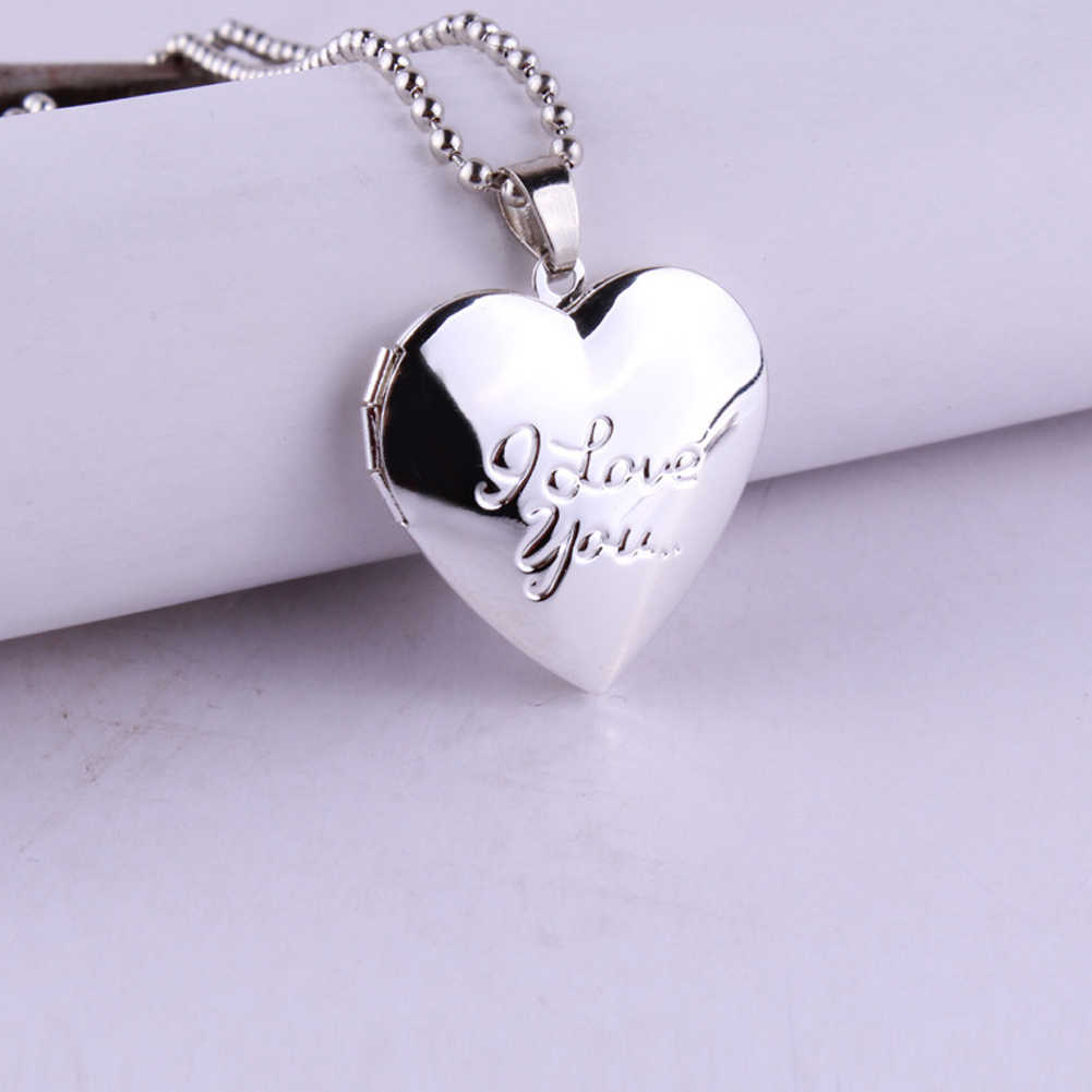 New Arrival Valentine Lover Gift Animal Dog  Photo Frames Can Open Locket Necklaces Heart Pendants fit Necklace Women