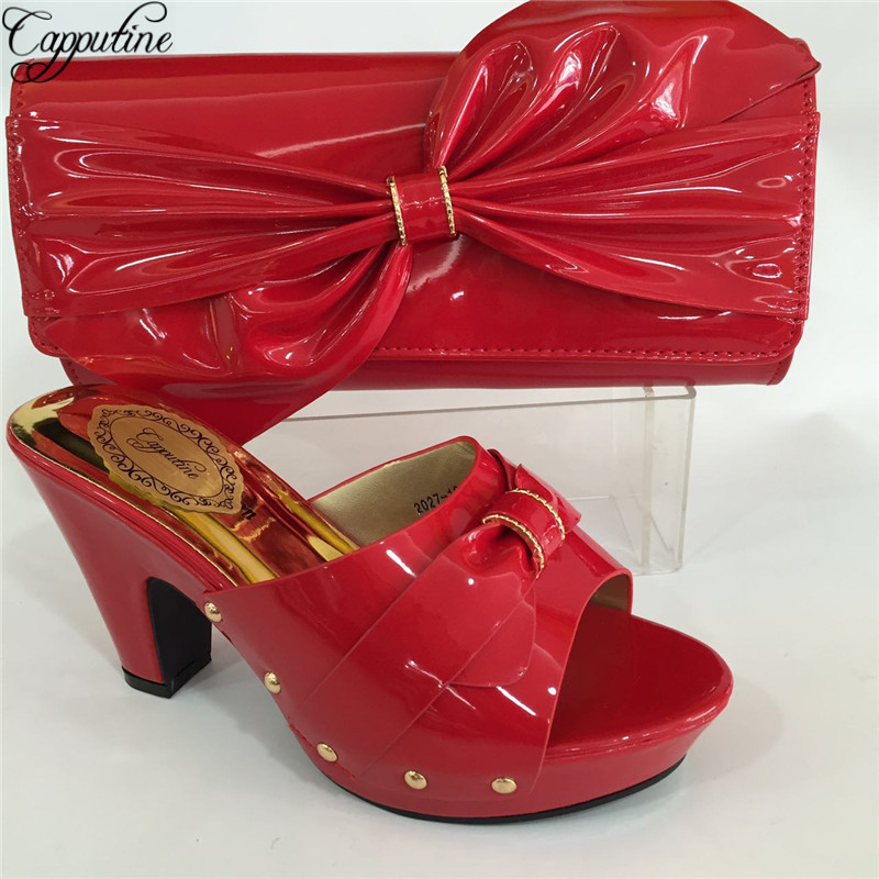 Capputine New Arrival Green Blue Shoes And Bag Sets Italian Ladies Pumps Shoes And Bags To Match Set For Party Dress BL695C capputine new arrival fashion shoes and bag set high quality italian style woman high heels shoes and bags set for wedding party
