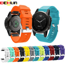 Silicagel Soft Band Strap Watchband  Bracelet Wrist Strap for Garmin Fenix 5S Watch Replacement Silicone Wrist Band watchband
