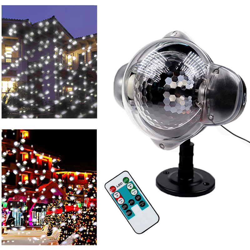 Christmas Holiday Snowflake Projector LED Light Outdoor Waterproof LED Lawn Lamp Light Home Garden Snowfall Indoor Decoration