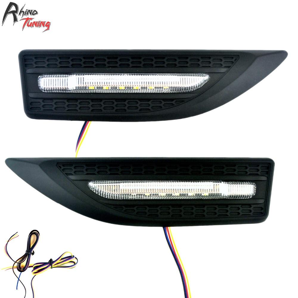 Тюнинг носорог Многофункциональный Автомобильный светодиодный стороны света трех основных функций лампы авто стайлинг серия 3 16143