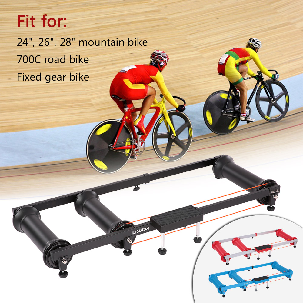 Lixada Cycling MTB Mountain Bike Indoor Training Station Road Bicycle Exercise Station Fitness Cycling Roller Trainer free indoor exercise bicycle trainer 6 levels home bike trainer mtb road bike cycling training roller bicycle rack holder stand