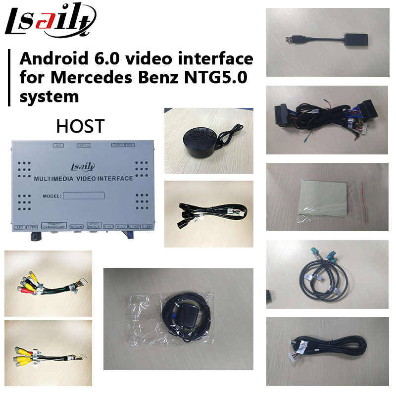Lsailt Android GPS navigation box for Mercedes benz GLE W166 NTG 5 0 video  interface box mirror link ML youtube waze