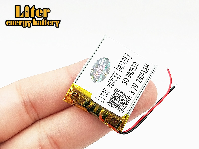 <font><b>302530</b></font> 3.7V 200mah Lithium polymer Battery with Protection Board For MP4 Digital Products image