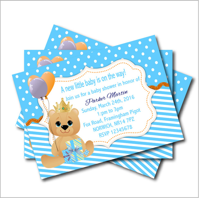 20 pcslot teddy bear baby shower invitations birthday party invites 20 pcslot teddy bear baby shower invitations birthday party invites custom kids birthday party filmwisefo