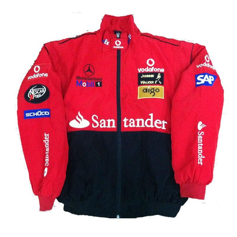 Free Shipping Road Racing F1 Jacket Nascar Car Logo Red Moto