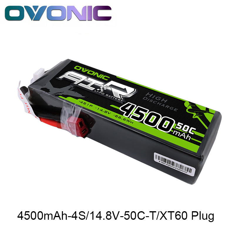 Ovonic Lipo 4S 4500mAh 14.8V 50C 100C Battery Pack for 1/8 1/10 RC Car Heli Quadapter 3D T Connector XT60 Plug tl 300 digital lcd air temperature anemometer air velocity wind speed meter
