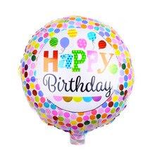 XXPWJ frete grátis Rodada brinquedo festa de aniversário balão de alumínio decoração do partido balão A-036