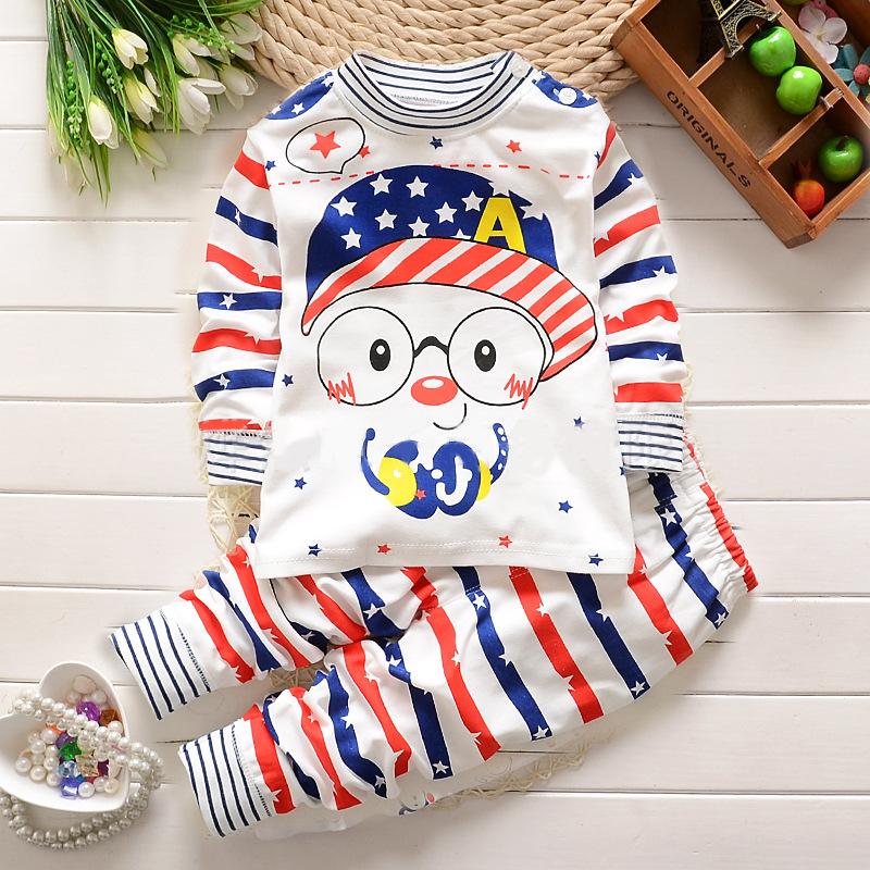 2017 Autumn Baby Boy Girl Clothes Long Sleeve Top + Pants 2pcs Sport Suit Baby Clothing Set Newborn Infant Clothing Bebe 2pcs set cotton spring autumn baby boy girl clothing sets newborn clothes set for babies boy clothes suit shirt pants infant set