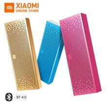 オリジナル Xiaomi の Bluetooth スピーカーミニワイヤレス金属ステレオポータブル MP3 プレーヤーハンズフリーの bluetooth 4.0 xiaomi 正方形ボックス