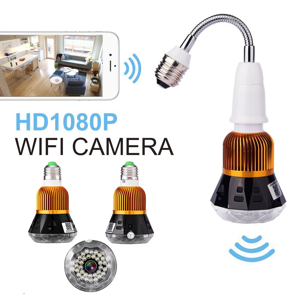 JCWHCAM HD 1080P WIFI Bulb Light IP Camera Real time Monitoring Home Security WiFi Camera 1080P Night Vision CCTV Security wifi ip camera indoor bulb light camera home security cctv surveillance micro camera 720p 1080p mini smart night vision hd cam