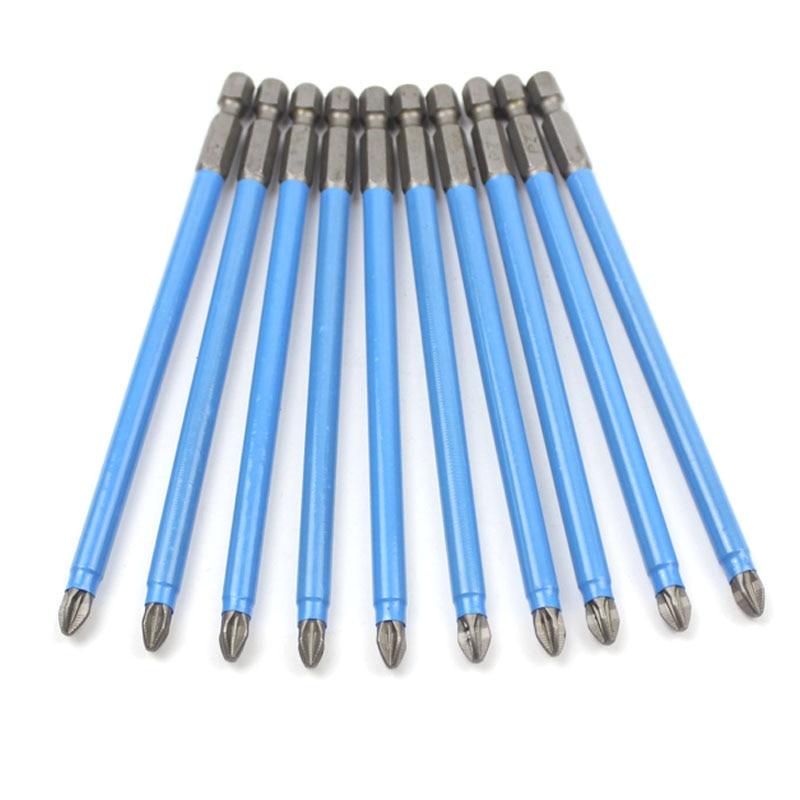 PZ Anti Slip Magnetic Pozidriv PZ2 Screwdriver Bit Set PZ1 PZ2 PZ3 1/4 Hex Shank Electric Power Tools 50mm 127mm 150mm
