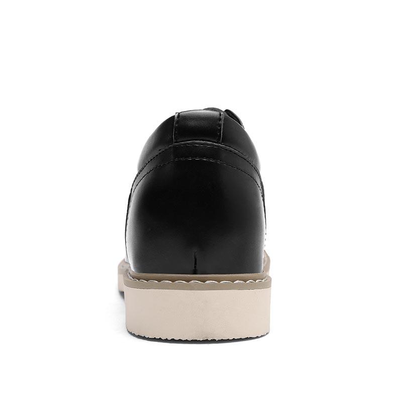 Brown Britânica Sapatos 38 Couro dark 44 Respirável Do Brown Moda Vintage Homens yellow Casuais Genuíno Tamanho Up Black Trabalham Qualidade Lace Alta De aBwOa