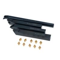 10Pcs/box Alloy Steel Carbide Insert+4Pcs Boring Bar Tool Holder+4Pcs Wrench Lathe Turning Tool