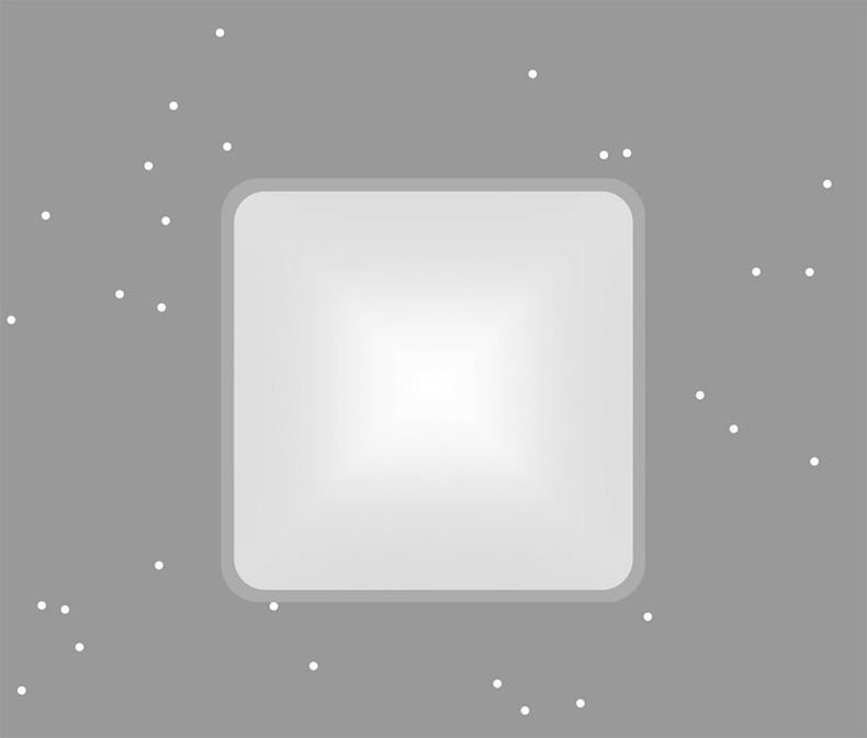 Оригинальный xiaomi mijia Yeelight умный квадратный светодиодный потолочный плюс свет умный голос/Управление приложением Mi home для спальни гостиной - 4