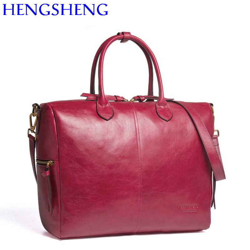Two Sac En 100 3010 Red One Two Sholder La Épaule 3008 3009 À Vache Main 3002 One Véritable Hengsheng 3008 3009 Sacs Mode Femmes De Messenger Pour Red Cuir Dame XWACqS
