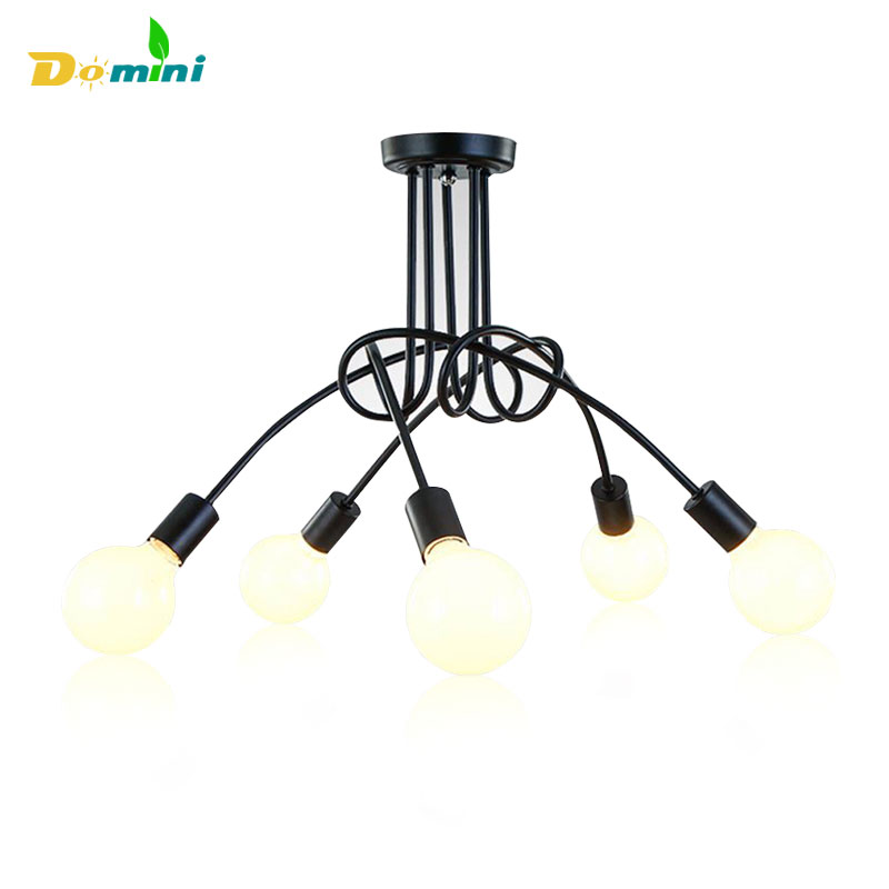 Modern Led Ceiling Lights Luminaire With E27 Bulb Ceiling Lamp Iron 3 5 Head Tree Branch