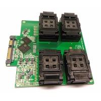 1 шт. SM2256K мастер SSD флэш памяти Тесты приспособление для BGA152 один перетащите четыре флип Тесты приспособление TLC te