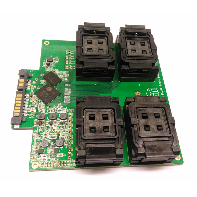 1pcs SM2256K master SSD flash memory test fixture to BGA152 one drag four flip test fixture TLC te bga272 test fixture ssd flash test solution sm2246en two in one test board for smart phone date recovery
