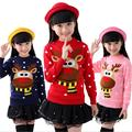 Winter Children Sweater Girls Long Sleeve O-neck Autumn Warm Cardigan Pull Fille Cartoon Animal Kids Sweaters And Pullover Tops