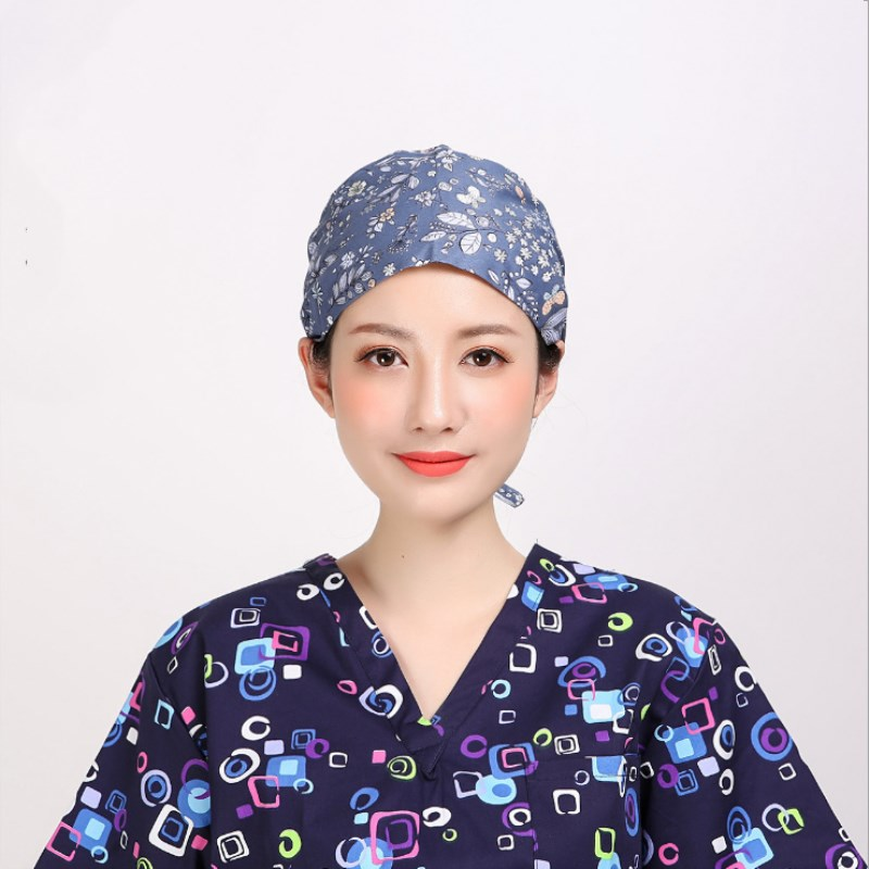 2 pcs Adjustable Doctor Nurse Caps Women 39 s Surgical Hats for Women Clinic Workwear Cap Long Hair Cotton Scrub Surgical Caps in Emergency Kits from Security amp Protection