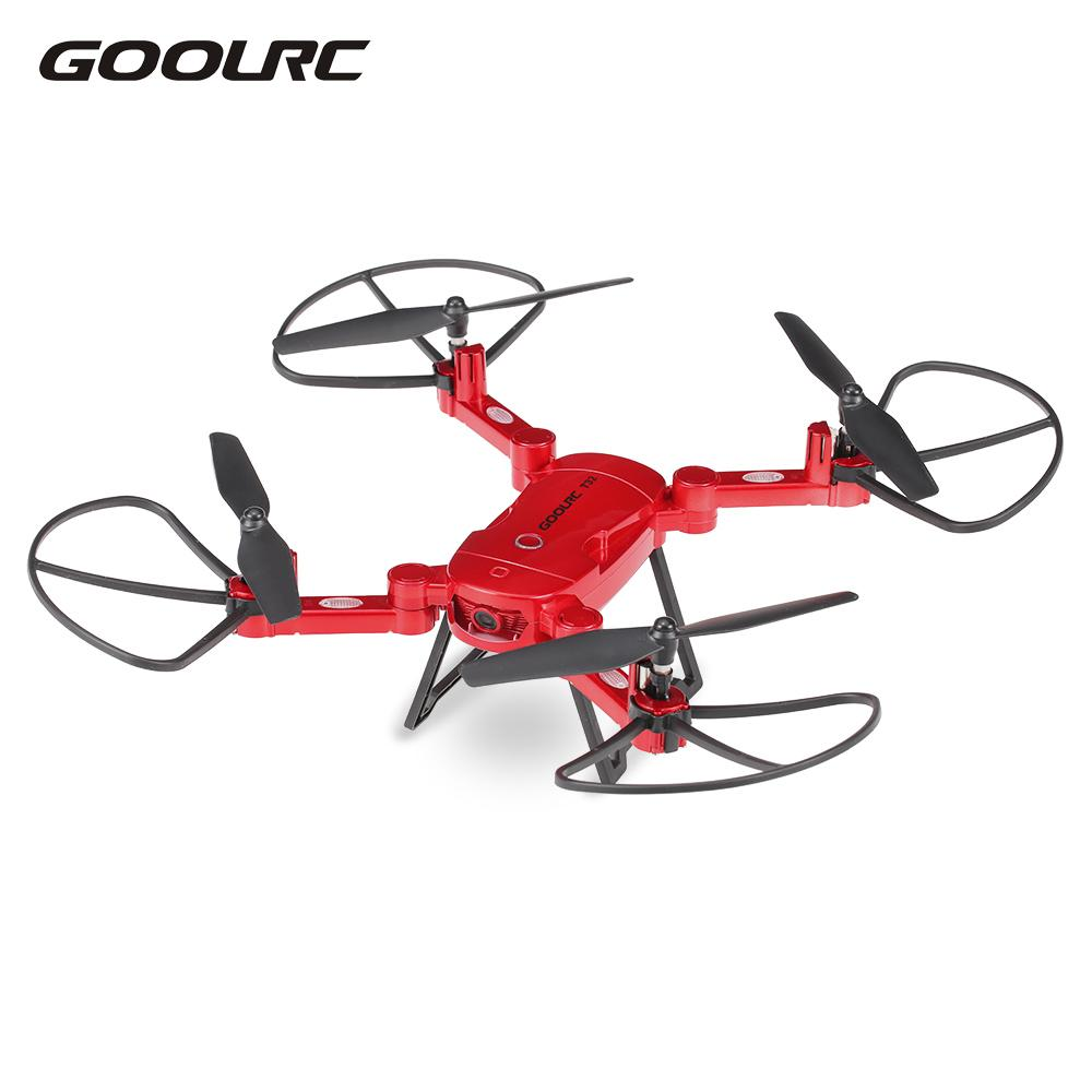 GoolRC RC Drone T32 Wifi FPV Flight 720P HD Camera Selfie Drone 4CH 6-Axis Gyro Foldable RC Quadcopter Height Hold G-Sensor flytec t18d rc quadcopter mini drone 4ch wifi fpv 720p hd camera rc drones height hold mode 6 axis ufo rtf drone with camera