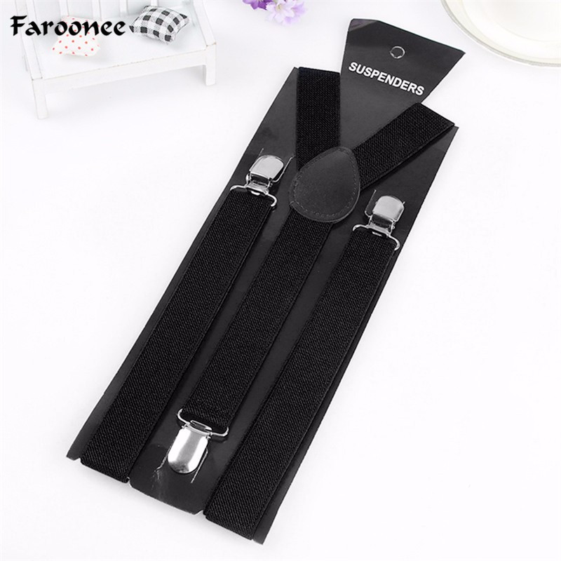 New Mens Womens Unisex Clip-on Suspenders Elastic Y-Shape Adjustable Braces Colorful For Female Male Fashion Accessory S2291