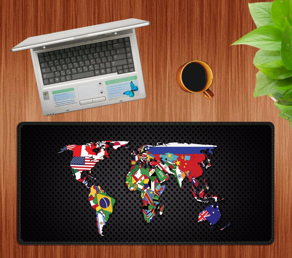 900x400 New World Map Mouse Pad gaming mousepad for Macbook Laptop mouse keyboard office use